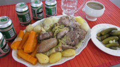 chou blanc : Assiette de hochepot façon brugeoise