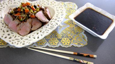 worcestershire : Plat de cochon et son filet avec sa sauce au parfum de Chine