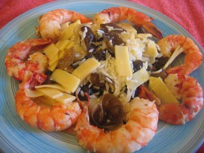 Cuisine diététique : Assiette de crevettes aux pousses de bambou
