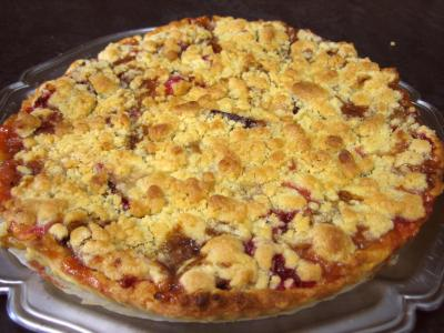 Recette Crumble aux prunes et aux bananes