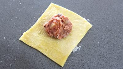 Recette Assiette de capelleti de leur potage de champignons et laitue