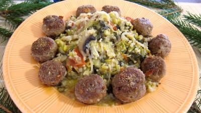 plat complet : Assiette de quinoa aux poireaux et aux épinards