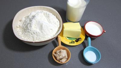 Image : Ingrédients - Ingrédients de la recette du pain navette