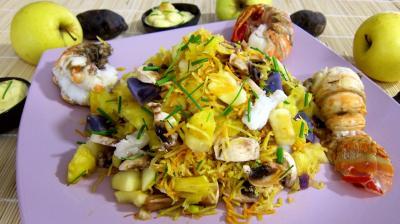 Recette Saladier de queues de langouste en salade