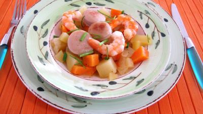 Recette Assiette de wok et légumes au Jurançon