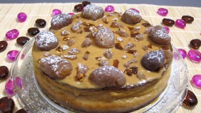 Photo : Cheese cake aux marrons glacs