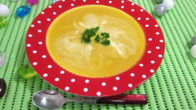 Recette Assiette de bouillie aux carottes et aux oranges