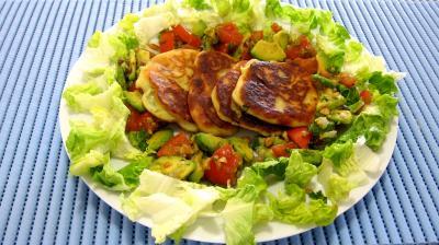 Image : Assiette de ricotta en croquettes au citron vert