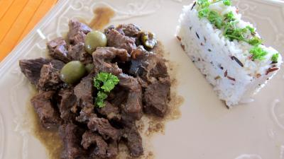 Photo : Assiette de boeuf à la gardiane provençale