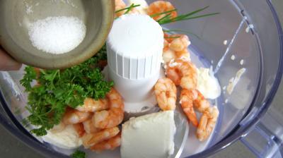 gondoles de concombre farci aux crevettes