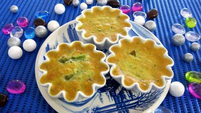 Cuisine diététique : Ramequins de flans d'asperges