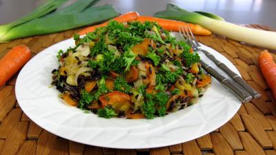 Recette Plat de riz au petits légumes