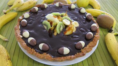 tarte au chocolat : Tarte au chèvre et chocolat