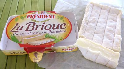 Image : La brique (Président) - Fromage la brique