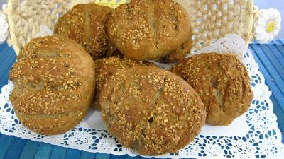 Recette Boules de pain au levain à l'ancienne