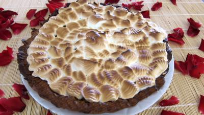 Recette Assiette de tarte à la rhubarbe