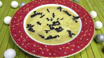 Cuisine diététique : Grand bol de potage au courgette au micro-ondes