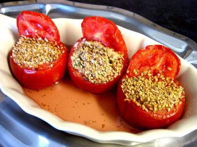 recettes farcies : Plat de tomates farcies au tofu