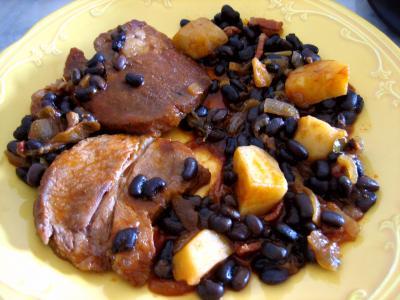 haricots noirs : Epaule de veau aux haricots noirs