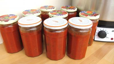 Recette Pots de conserve de sauce tomate à la bolognaise