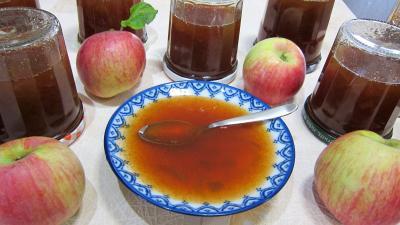 rhubarbe : Coupelle de gelée de pommes à la rhubarbe