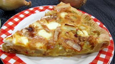 Image : recette Tarte aux courgettes et piment doux