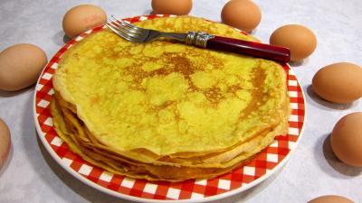 Cuisine diététique : Assiette de crêpes au safran et au marsala