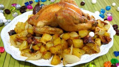 Poulet au four supertoinette la cuisine facile - Cuisine poulet au four ...