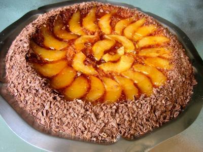 Cuisson au four : Gâteau aux poires et sa crième au grand Marnier