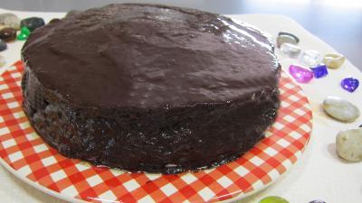 Dessert à base de fromage blanc : Assiette de cheese cake au chocolat bananes