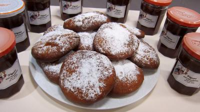 Image : Assiette de beignets Hannouka