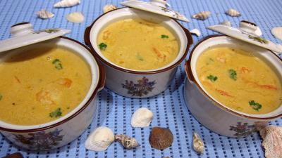 Cuisine diététique : Cassolettes de bisque de gambas