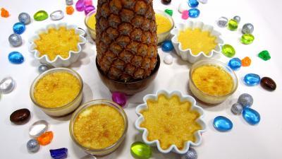 Caramel : Ramequins de flans à l'ananas
