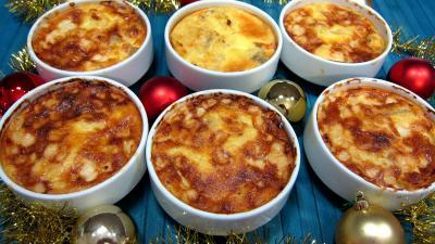 plat complet : Cassolette de polenta aux fromages de chèvre