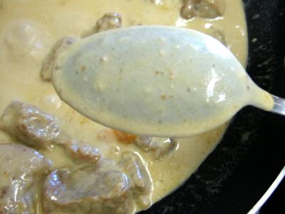 Sauté de porc au brie et aux cèpes - 14.3