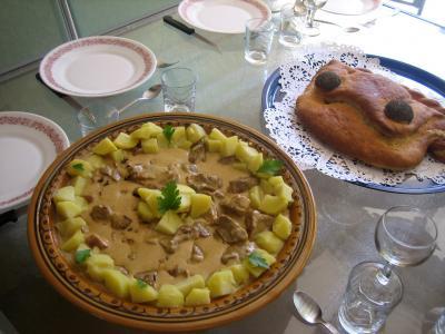 Sauté de porc au brie et aux cèpes - 15.4