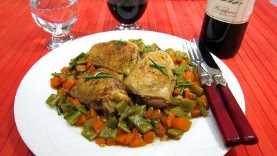 Image : recette Poulet aux carottes