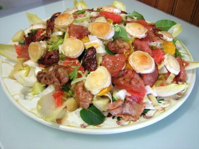 pain de mie complet : Salade aux restes de pommes de terre vapeur et chèvre