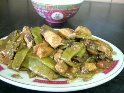 Recette Assiette d'espadon aux haricots mange-tout