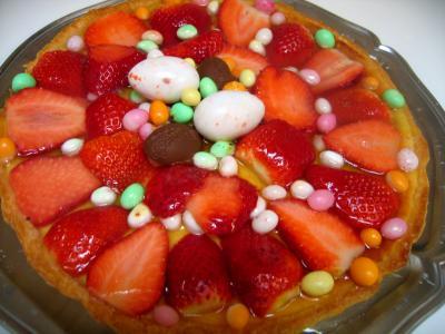 bonbon : Tarte de Pâques aux fraises et à la brousse