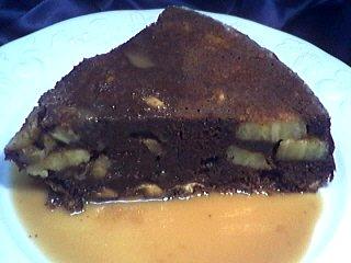 Image : recette Gâteau au chocolat et aux bananes