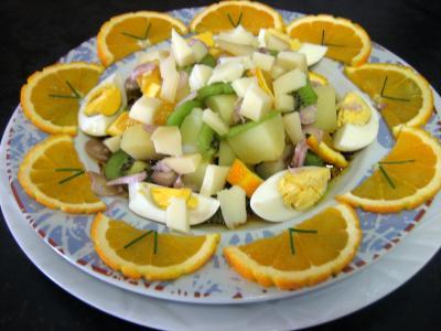 Image : Assiette de salade de kiwis à l'orange