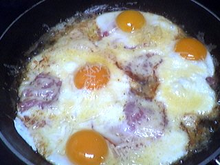 bacon : Oeufs au bacon
