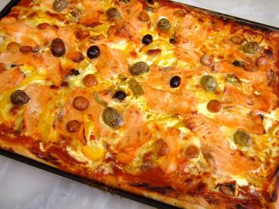 Recette Pizza au saumon fumé