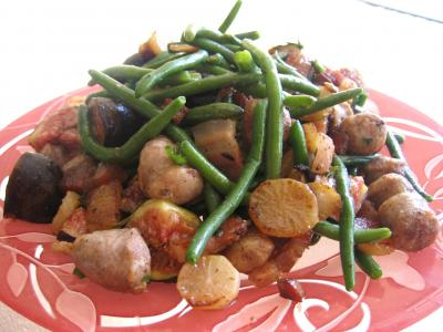 Recette Assiette de haricots verts et navets