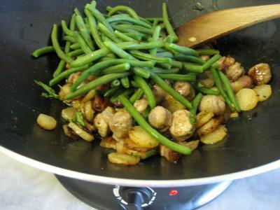 Navets et haricots verts au wok - 9.2