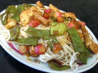 sauce hoisin : Assiette de nouilles au soja