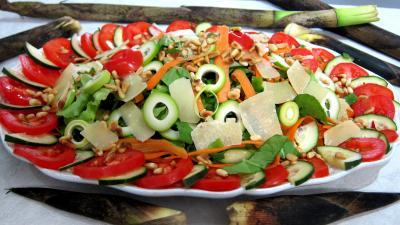 Pousses de bambou en salade