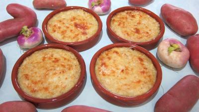purée de légumes : ramequins de purée de navets