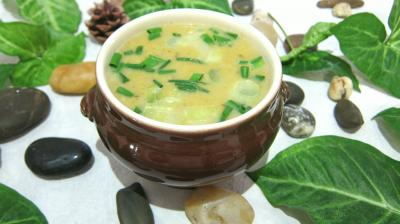 Soupes &amp; potages : Ramequin de potage de poireaux